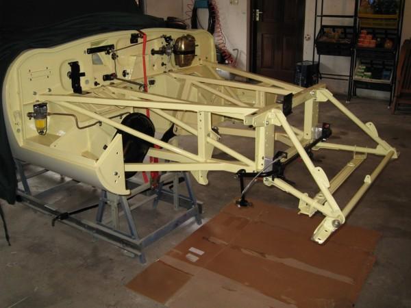 Jaguar e type front frame
