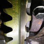 Differential crown, pinion, gear, final drive ratio
